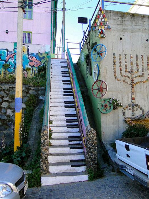 Лестница-пианино.