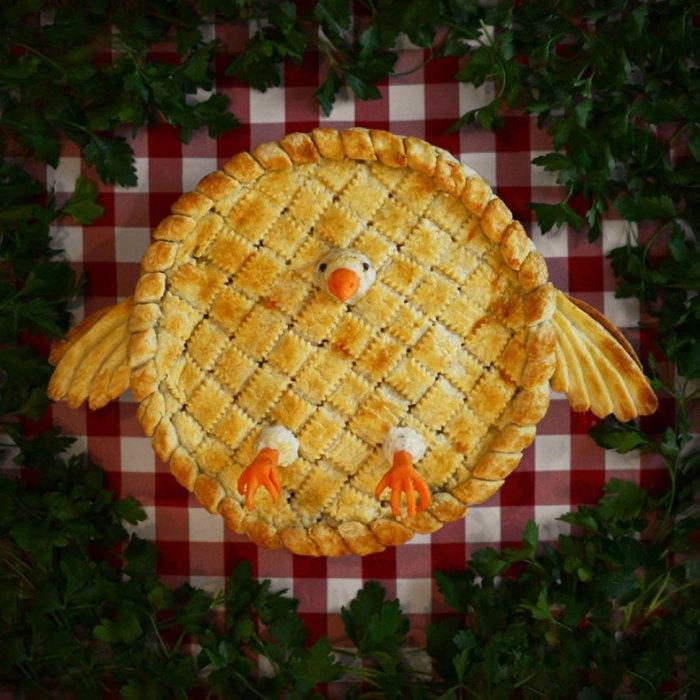 Пирог с курицей.