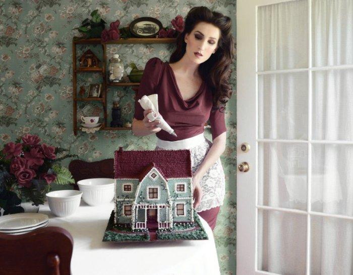 Домохозяйка 50-х годов.