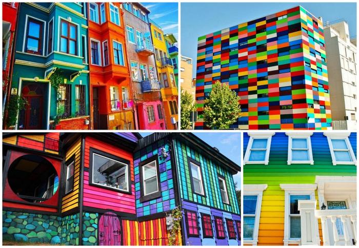 Самые красивые и яркие дома со всего мира.
