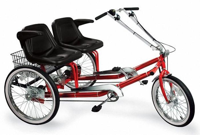 Электрический трехколесный велосипед.