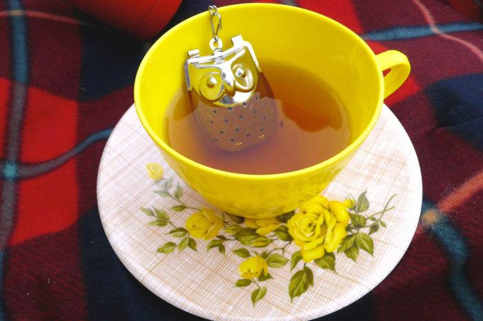 Необычное ситечко для заварки чая.