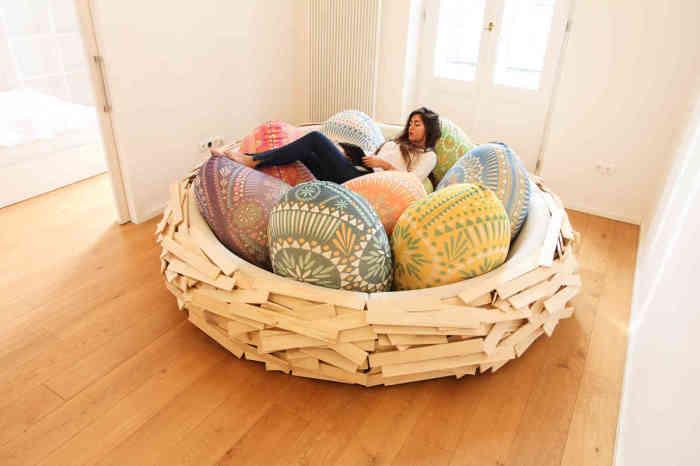 Настоящее гнездо для отдыха.