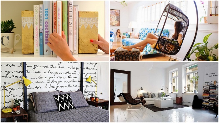 Оригинальные способы освежить привычный интерьер комнаты.