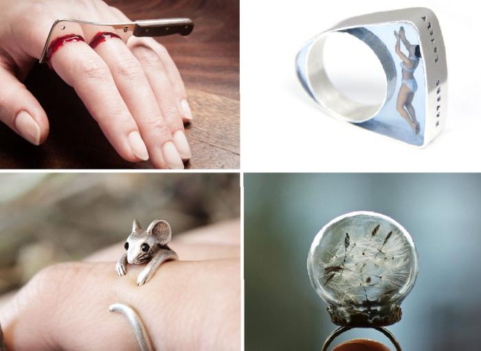 Оригинальные кольца.