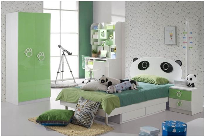 Мебель с изображениями милых панд.
