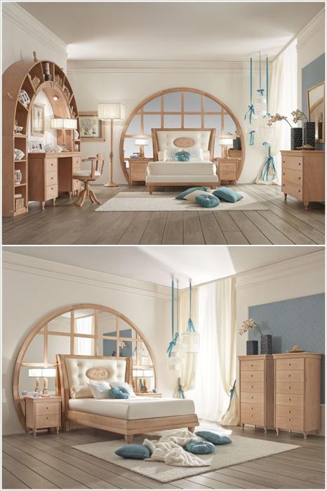 Кровать, которая открывает путь в зазеркалье.