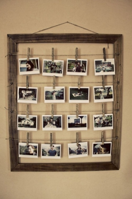 Неординарный способ разместить несколько фотографий в одной раме.