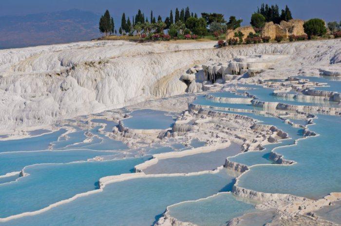 Геотермальные источники в Турции.