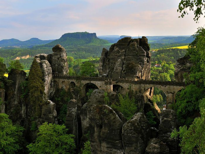 Национальный парк в Саксонии.
