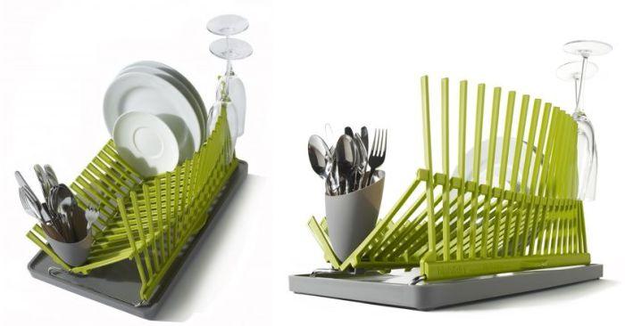 Оригинальный и современный дизайн сушилки для посуды.