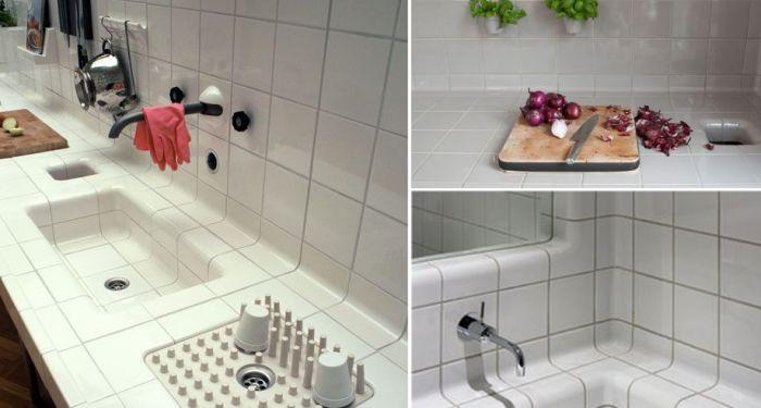 Минималистичный и несколько непрактичный, однако очень оригинальный способ сушить посуду.