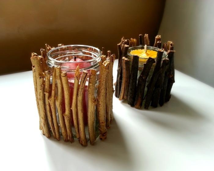 Оригинальное украшение для обычных свечек.