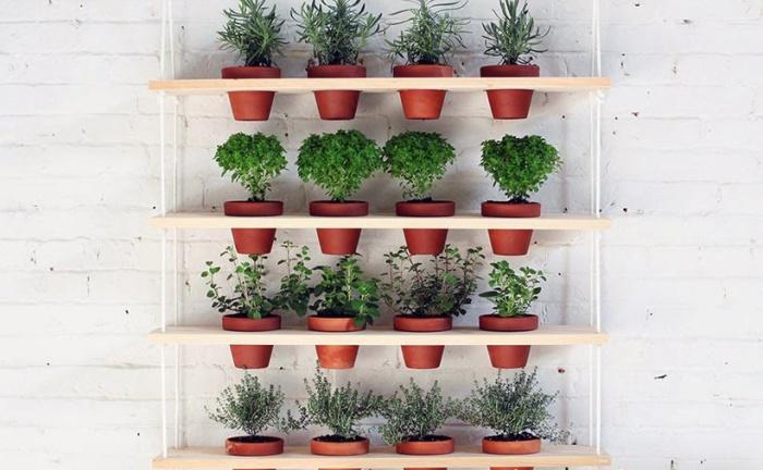 Полки для домашних растений.