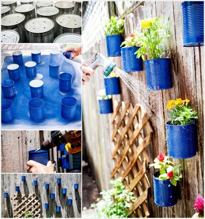 Хороший способ украсить садовую изгородь.