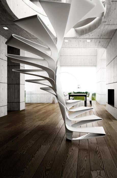 Изящная конструкция лестницы.