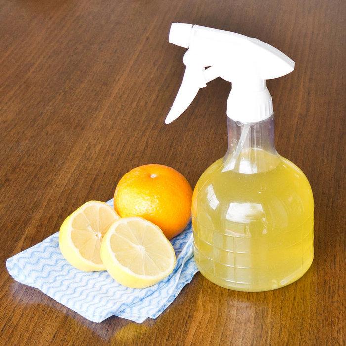 Ароматный экологически чистый спрей для уборки, пахнущий цитрусовыми.