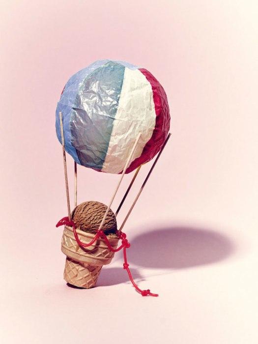 Мороженное в воздушном шаре.