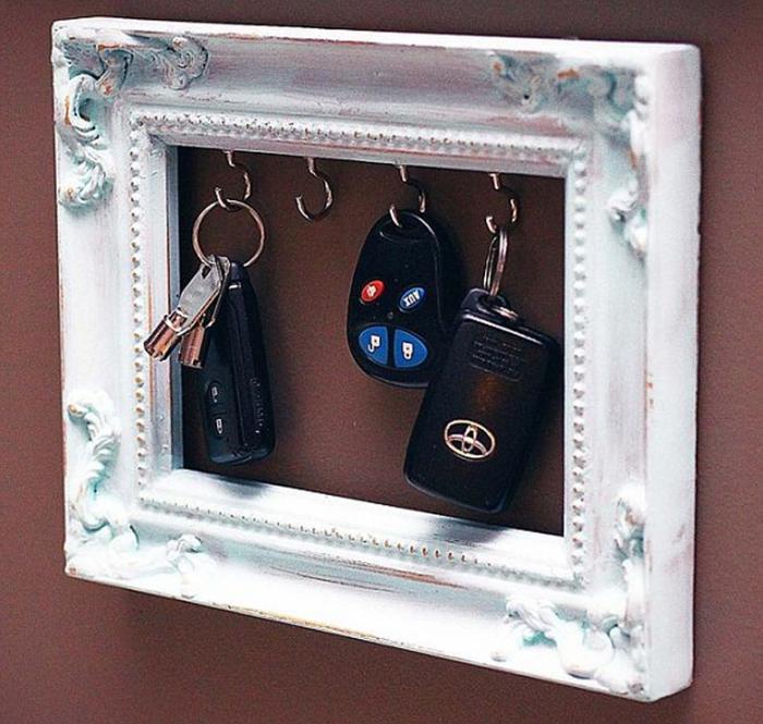 Удобный способ хранить ключи от дома.