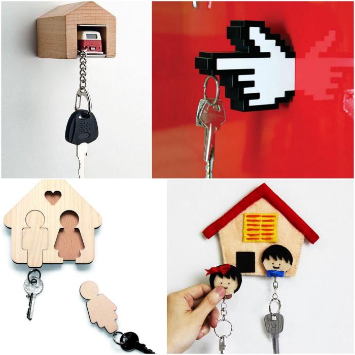 Места для хранения ключей.