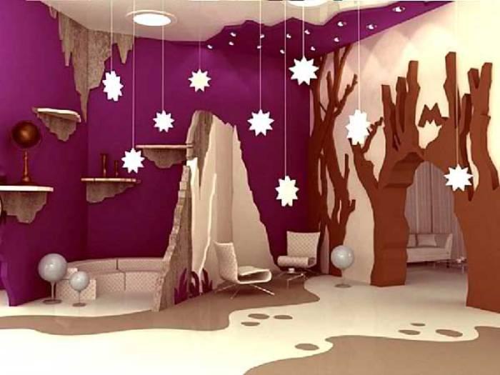 Космические мотивы в детской комнате.