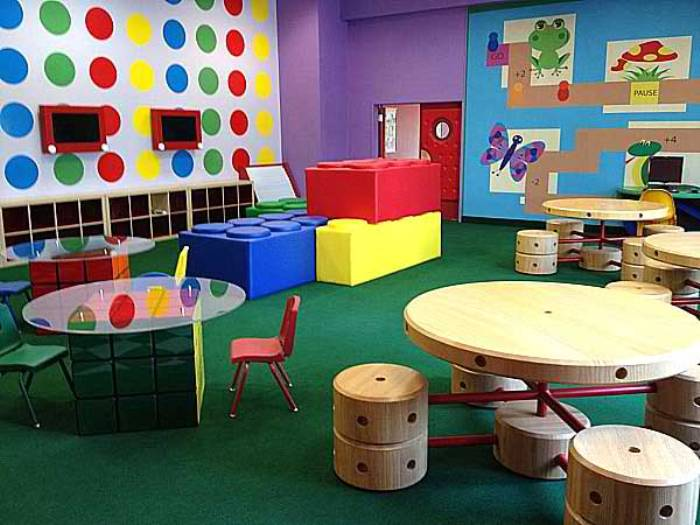 Мебель для детской комнаты в форме конструктора.