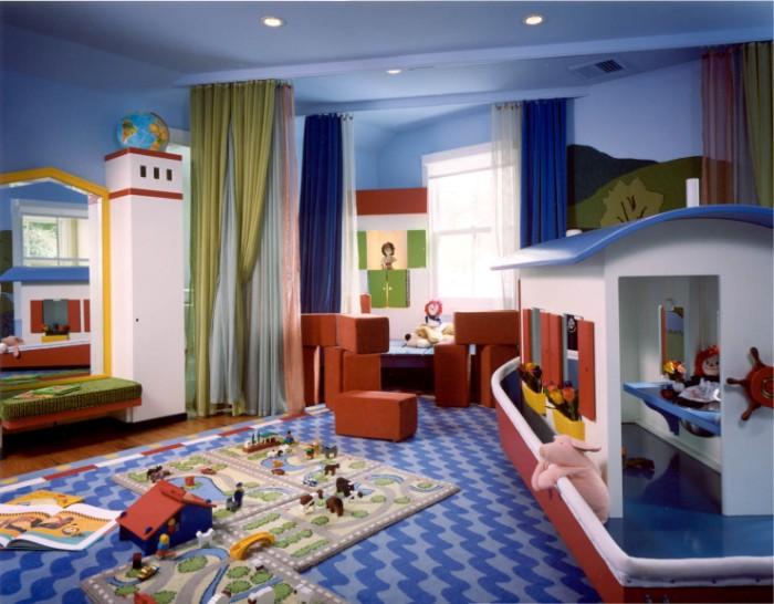 Детская комната с морскими мотивами.