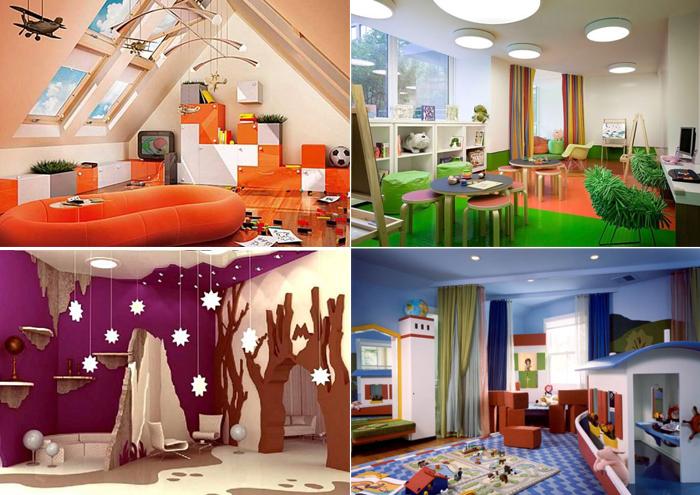 Интересные идеи для дизайна детских комнат.