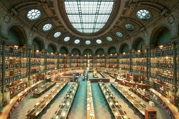 Великолепная библиотека Парижа.