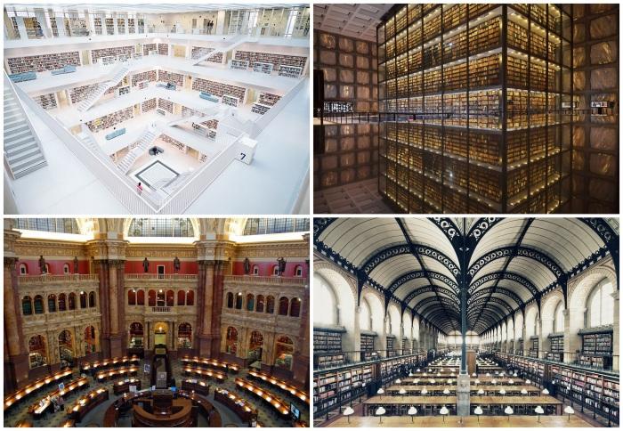 Самые красивые и необычные библиотеки.