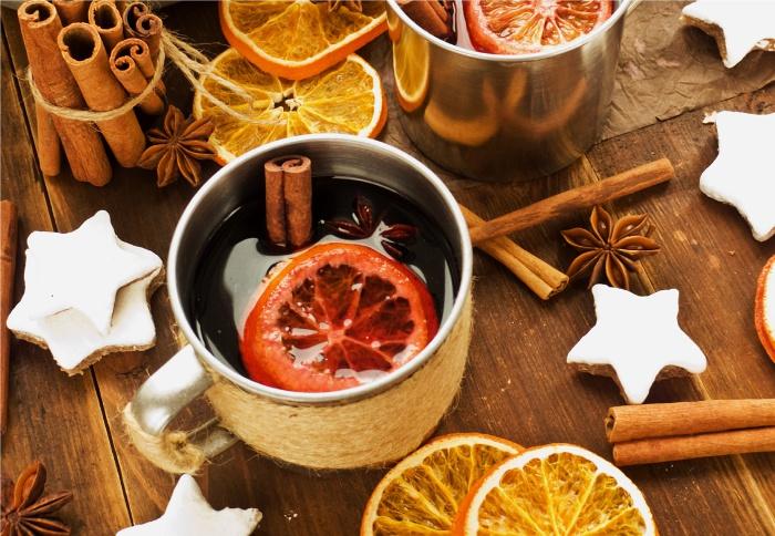 Согревающий новогодний напиток.