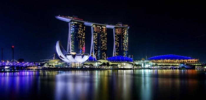 Роскошный отель в Сингапуре.