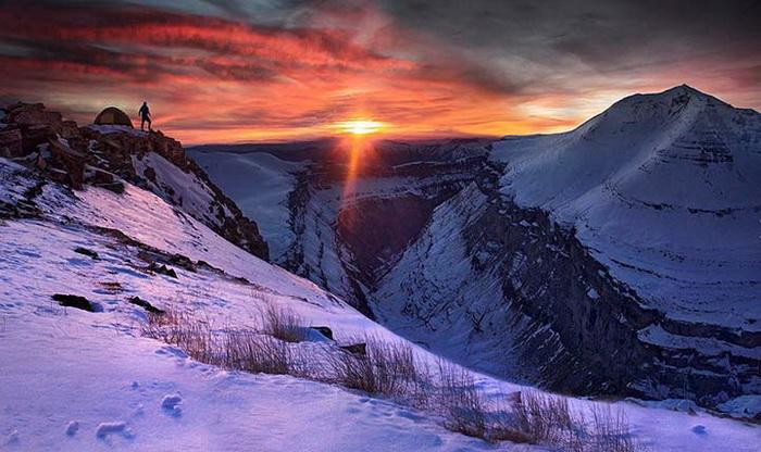 Снежный каньон на снимках Макса Рива.