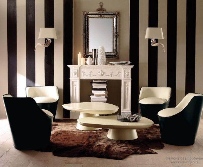 Изысканный декоративный камин, прекрасно сочетающийся с интерьером гостиной.