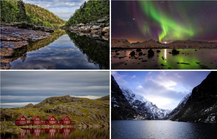 Сказочные зимние пейзажи Норвегии.