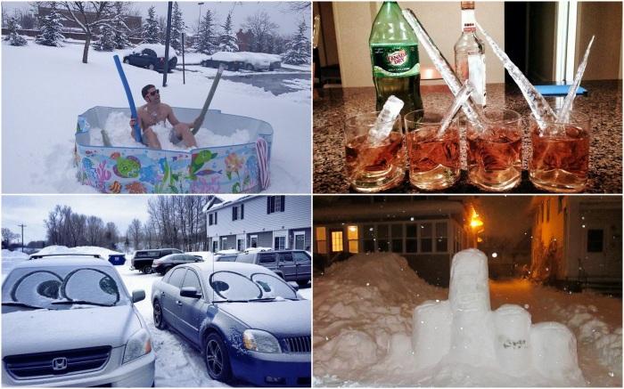 Необычные зимние забавы.