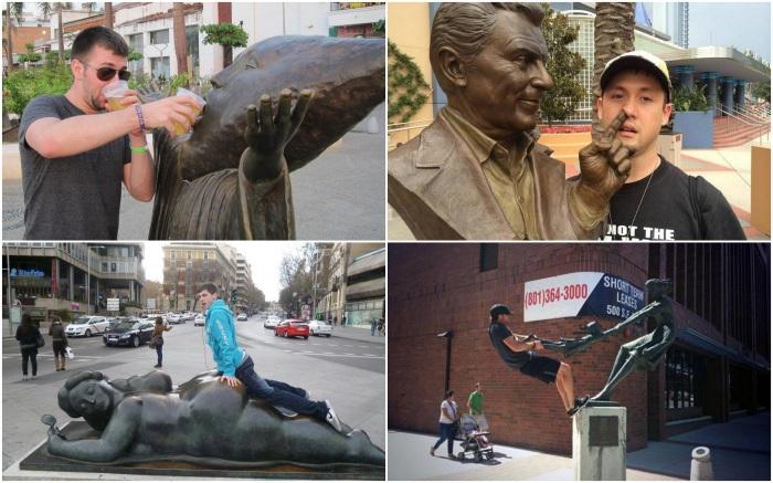 12 самых оригинальных способов сфотографироваться с памятником
