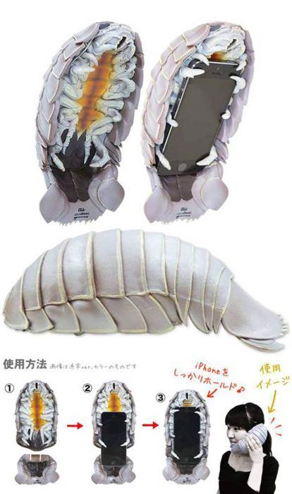 Пугающий чехол-личинка для не брезгливых.