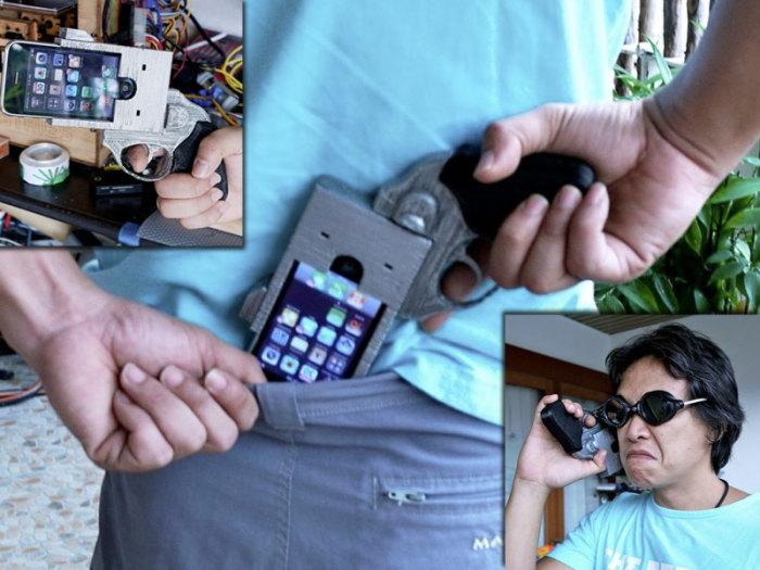 Чехол-пистолет для тех, чья жизнь наполнена опасностью.