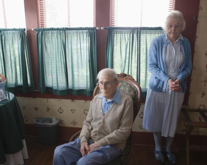Однообразная жизнь в пожилом возрасте.