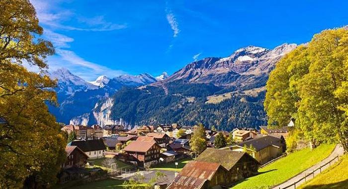 Схема поселка в горах