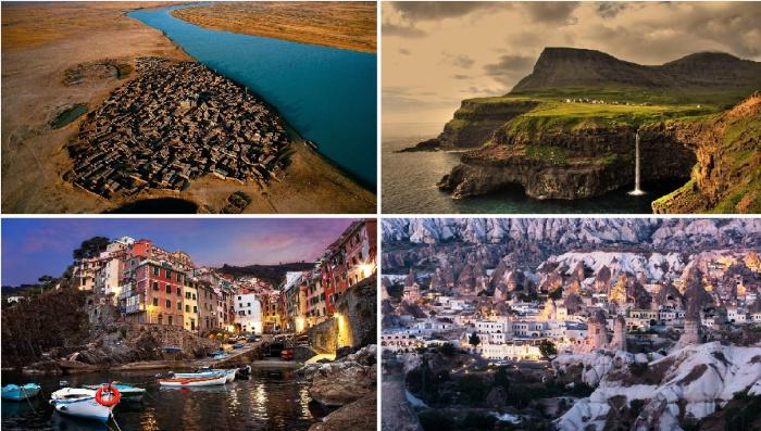 Оригинальные живописные деревеньки с разных уголков мира.