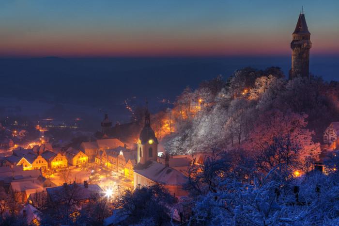 Уютный чешский городок.