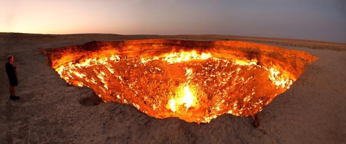Газовый кратер «Врата в ад».