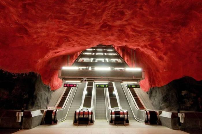 Необычное стокгольмское метро.