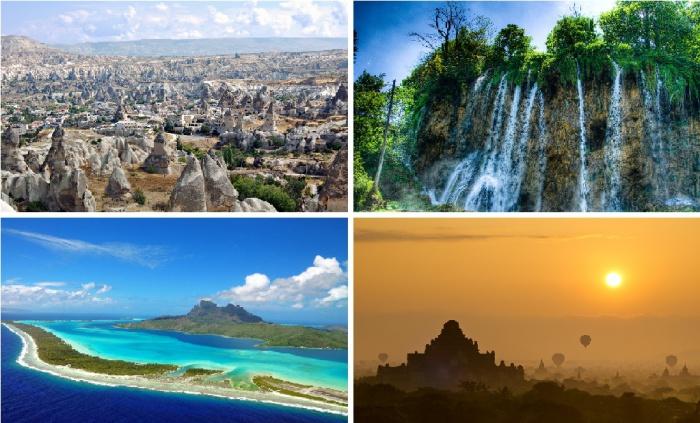Красочные пейзажи с разных уголков планеты.