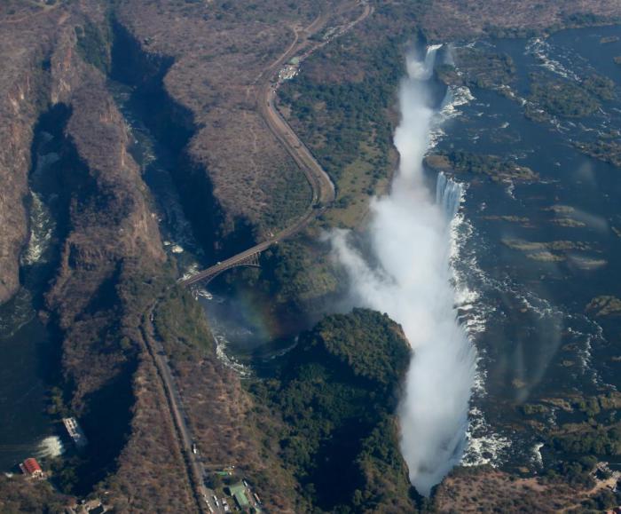 Водопад в Южной Африке.