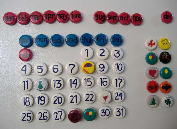 Оригинальный календарь, который возможно сделать своими руками.