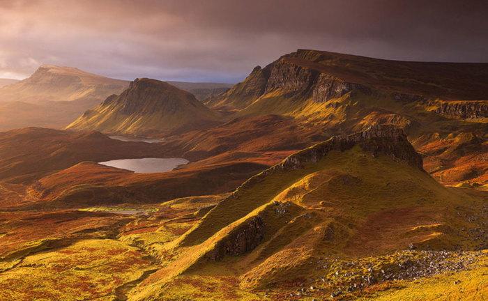 Прекрасная красота природы Шотландии.