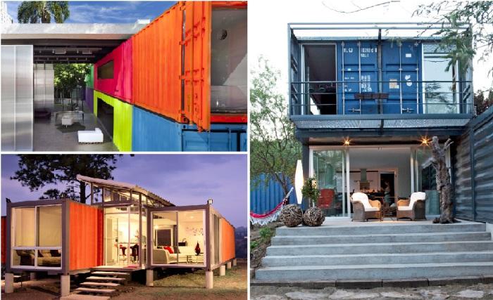 Великолепные жилища из грузовых контейнеров.